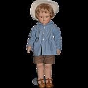 R. John Wright Doll Christopher Robin From Winnie The Pooh Cloth Doll Wonderful Felt Doll