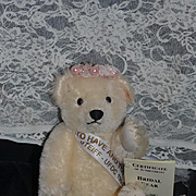 Vintage Steiff Teddy Bear Bridal Bear Signed By Dick Franz W/ Tags UFDC