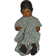 Antique Doll Cloth Doll Rag Doll Oil Cloth Painted Doll Jointed WONDERFUL Unusual