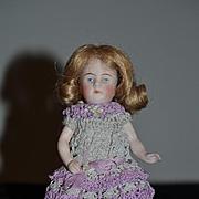 Antique Doll All Bisque Bent Limbs High Heel Double Strap Kestner 184 Miniature Dollhouse