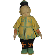 Old Doll Italian Lenci Opium Smoker Felt Oriental