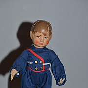Vintage Doll Oil Cloth Jointed Bing Adorable Outfit Cute Boy!!