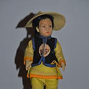 Old Doll Lenci Doll Oriental Doll Felt Doll Felt Doll
