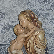 Old  Antonio Borsato Original Italian Signed Mary & Baby Jesus