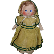 Vintage Doll Cloth Doll Rag Doll Mask Face Painted Face Original Clothing