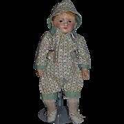 "Antique Doll Martha Chase Oil Cloth Doll Rare Size 12"""