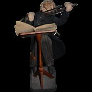 Vintage Doll Cloth Doll Rag Doll Nistis Felt Doll Character Violin Player