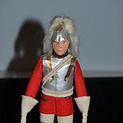 Old Cloth Doll Felt Doll Soldier