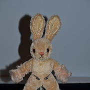 Old Doll Toy Steiff Rabbit Mohair W/ Button Unusual Bunny