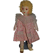 Old Doll Cloth Doll Painted Features