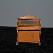 Old Doll Miniature School Wood Desk W/ Chalk Board