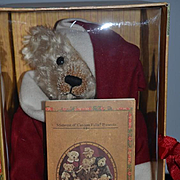 Santa Bear Mohair Mint in Box The Bears of Sagamore Hill W/ Papers Jointed