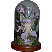 Fairy Doll Porcelain Artist With Glass Dome Two Fairies Porcelain