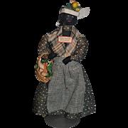 Old Doll Cloth Doll Charleston S.C. Black Peddler Doll Folk Art Unusual