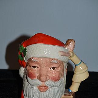 Wonderful HUGE Santa Claus Mug Cup Dish Fancy W/ Doll Hanle