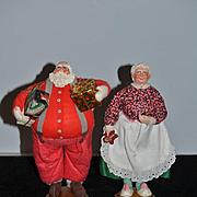 Vintage Doll Set Mr. & Mrs. Santa Claus Scrooge & Marley's Bygone Characters Massopust