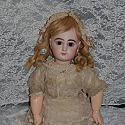 Antique Doll French Bisque BeBe Jumeau Closed Mouth W/ Blue Jumeau Mark on Body