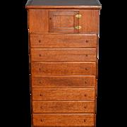 Doll Miniature Cabinet Dresser Hank Miller Signed Wood Fancy W/ Old Tag Dollhouse