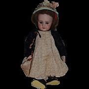 Wonderful Doll Cabinet Size TeTe Jumeau with Original Bebe Jumeau Tag on Body DEP