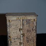 Old Doll Miniature Cast Iron Alaska Refrigerator Freezer Dollhouse Miniature
