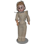Antique Doll Bisque Original Clothing Most Unusual Sweet Face