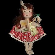 Wonderful Doll Miniature Felt Doll Cloth Doll Gwen Flather Adorable