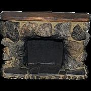 Doll Miniature Stone Fireplace Dollhouse Fancy