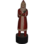 Vintage Doll Large Santa Claus Wood Carved Painted Folk Art Artist