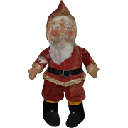 Wonderful Old Cloth Santa Doll Santa Claus Mask Face LARGE