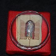 Wonderful Old Madonna & Child Miniature Glass Baroness Maydell