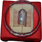 Wonderful Old Madonna & Child Miniature Glass Baroness Maydell