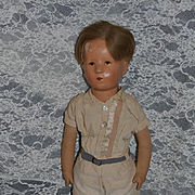 Old Doll Kathe Kruse EARLY Adorable Face Cloth Doll Charming Boy