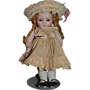 All Bisque Doll Miniature Fancy Clothes Jointed Sleep Glass Eyes