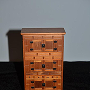 WONDERFUL Doll Miniature Cabinet Artist Wood Tall Chest Dollhouse