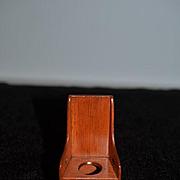 Vintage Doll Miniature Artist Hank Miller Dollhouse Wood Potty Toilet Signed W/ Lid