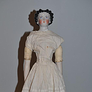 Antique Doll China Head Fancy Hair Style
