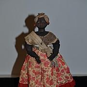 Old Doll Black Cloth Doll Rag Doll Fancy Clothing Folk Art
