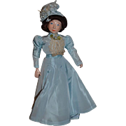 Wonderful Doll Wax Over Porcelain Artist Doll By Lauren Welker