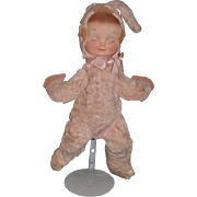 Old Doll Wonderful Cloth Doll Bunny Rabbit Character Doll