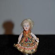 Antique Doll Bisque Miniature All Bisque Thigh High Stockings Original Clothing