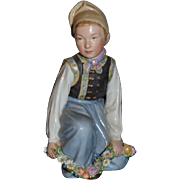 Old Royal Copenhagen Figurine Doll WONDERFUL Boy From Amager Signed Heavy Wonderful Overglaze Greenlandic