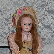 Antique Doll French Bisque TeTe Jumeau w/ Tag on Body W/ Crier Doll WORKS
