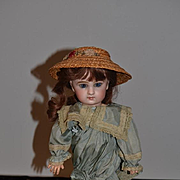 Antique Doll French Bisque BeBe Jumeau Closed Mouth W/ Rare incised DEPOSE MARK and JUMEAU Size 5