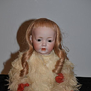 Antique Doll Bisque HILDA By Kestner Gorgeous in Snow Baby Costume HILDA MARKINGS