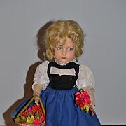 Old Lenci Doll Cloth Doll Felt Doll Wonderful Original Clothing