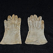 Old Doll Leather Gloves for French Fashion
