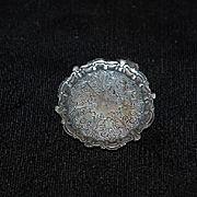 Wonderful Guglielmo Cini Sterling Silver Miniature Ornate Dollhouse Tray