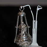Old Sterling Tea Ball Ornate Miniature Perfect for Dollhouse Doll