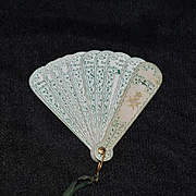 Old Wonderful French Doll Miniature Fan French Fashion
