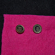 Wonderful Old Doll Buttons With Portraits Unusual Miniature Perfect for Dollhouse